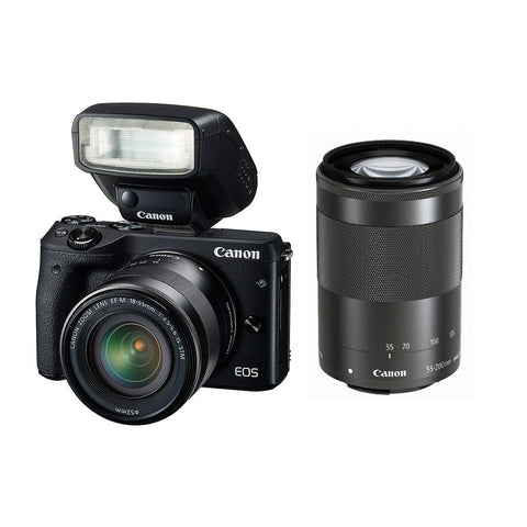Canon EOS M3 Mirrorless Camera 18-55mm & 55-200mm Lens Kit