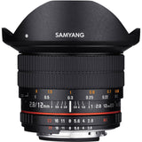 Samyang 12mm f/2.8 ED AS NCS Fisheye Lens with AE Chip