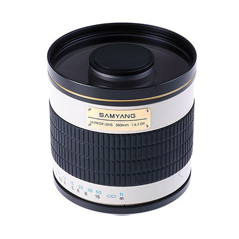 Samyang 500mm f/6.3 Mirror Lens Bundle T2 Mount Adapter