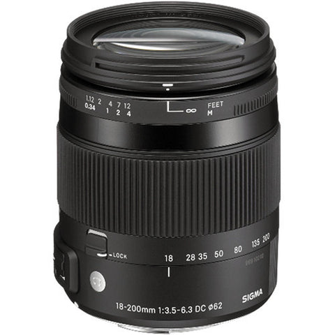 Sigma 18-200mm f/3.5-6.3 DC Macro OS HSM Lens For