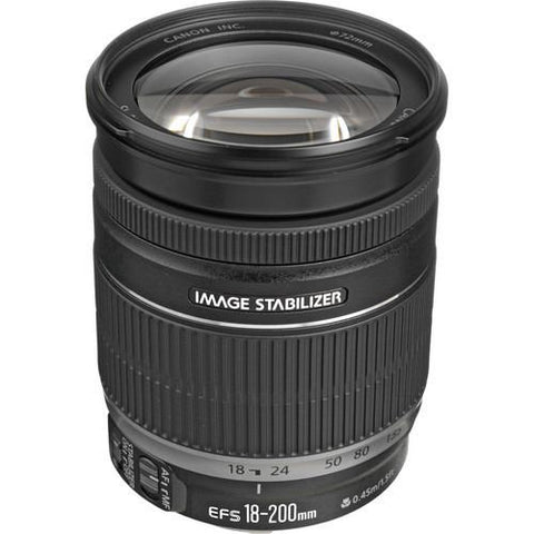 Canon EF-S 18-200mm f/3.5-5.6 IS Autofocus Lens (No Retail Packing)