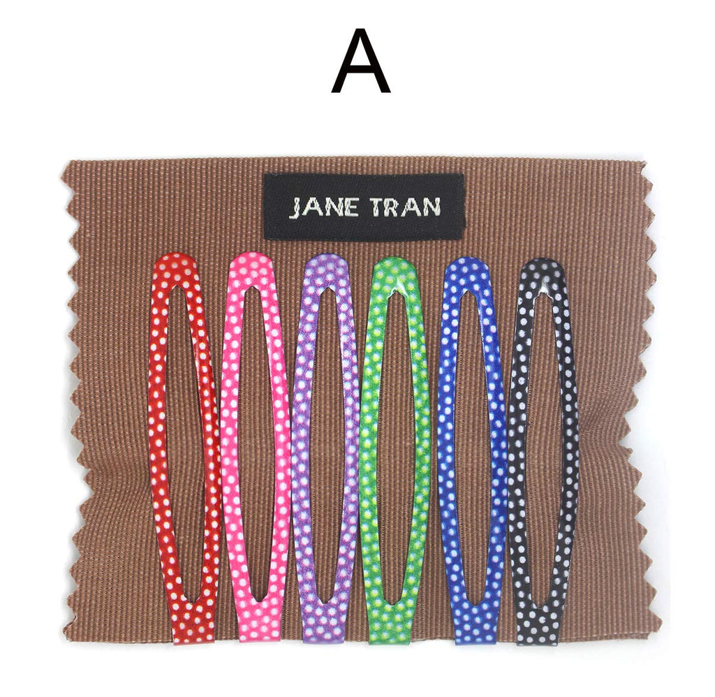 Jane Tran Polka Dot Assorted Clip Set