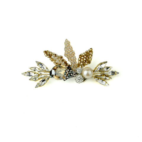 Marquis Crystal and Pearl Barrette