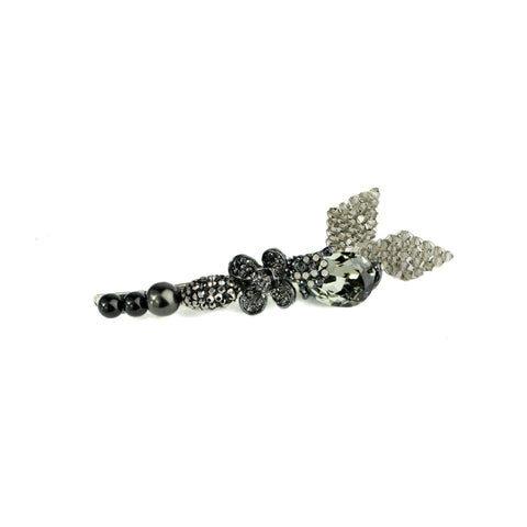 Beaded Leaf Barrette
