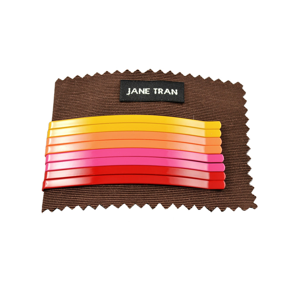 Neon Solid Bobby Pin Set