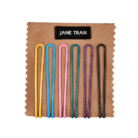 Solid Metallic Loop Bobby Pin Set