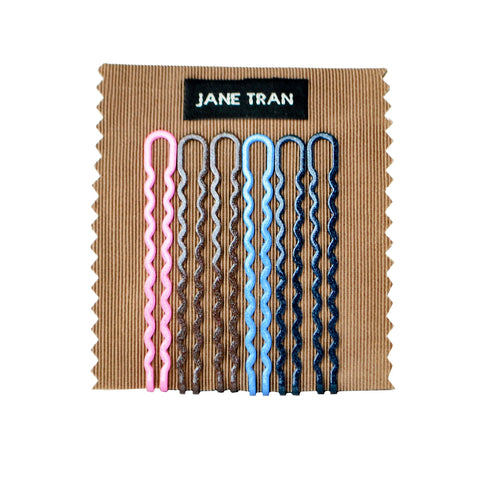 Metallic Shimmer Wavy Bobby Pin Set