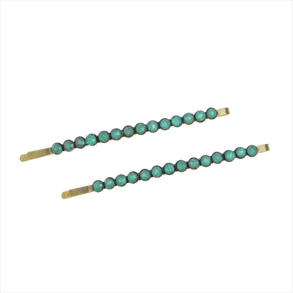 Twin Set Ornamental Bead Bobby Pin