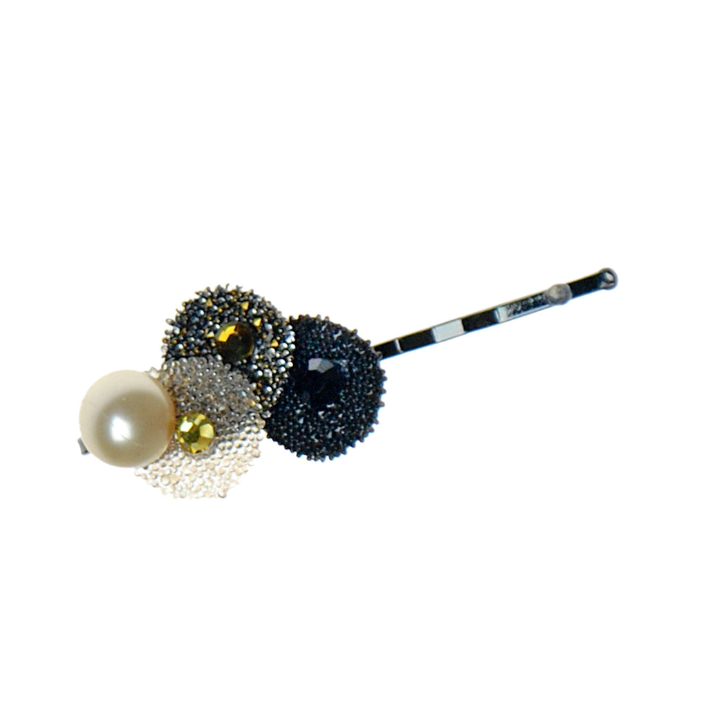 Crystal Disc Pearl Bobby Pin
