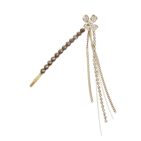 Flower With Chain Bobby Pin