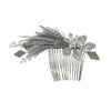 Crystal and Feather Comb