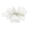 Lace Flower and Crystal Sprig Comb