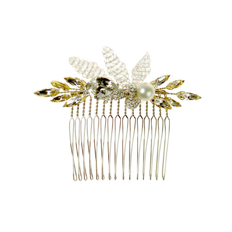 Marquise Cyrstal and Pearl Comb