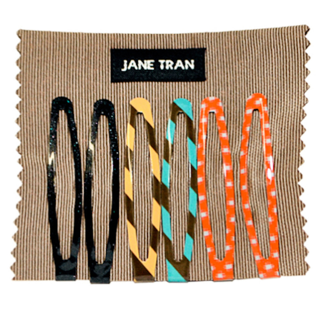 Assorted Stripes and Patterns Clip Set