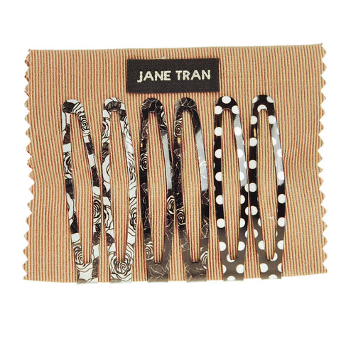 Black and White Assorted Clip Set