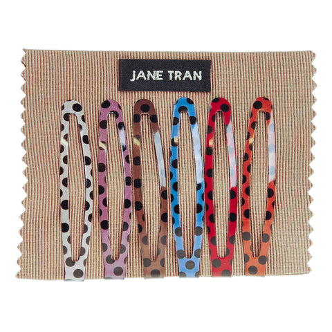 Sunset Polka Dot Clip Set