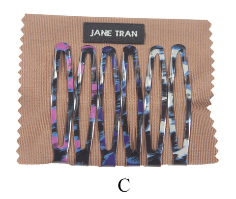 Jane Tran Mixed Abstract Design Large Clip Set C