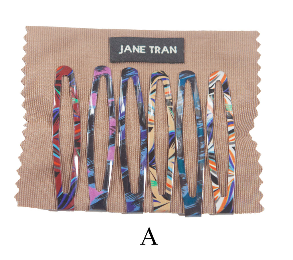 Jane Tran Mixed Abstract Design Large Clip Set