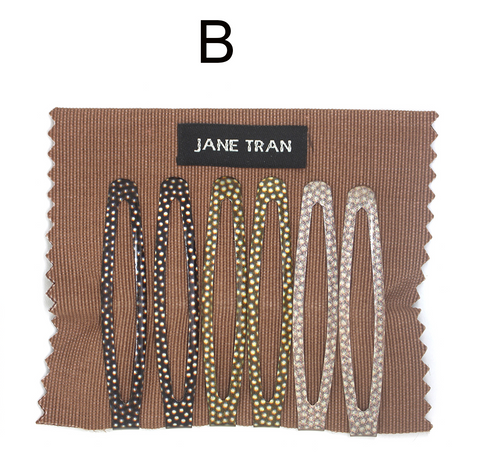 Jane Tran Polka Dot Assorted Clip Set B