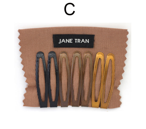 Jane Tran Metallic Finish Assorted Clip Set C