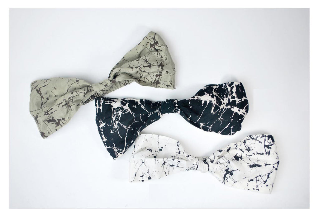 Headband With Pleated Bow