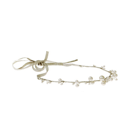 Pearl Bouquet Tie-back Headband