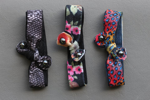 Assorted Abstract Knotted Hair Ties