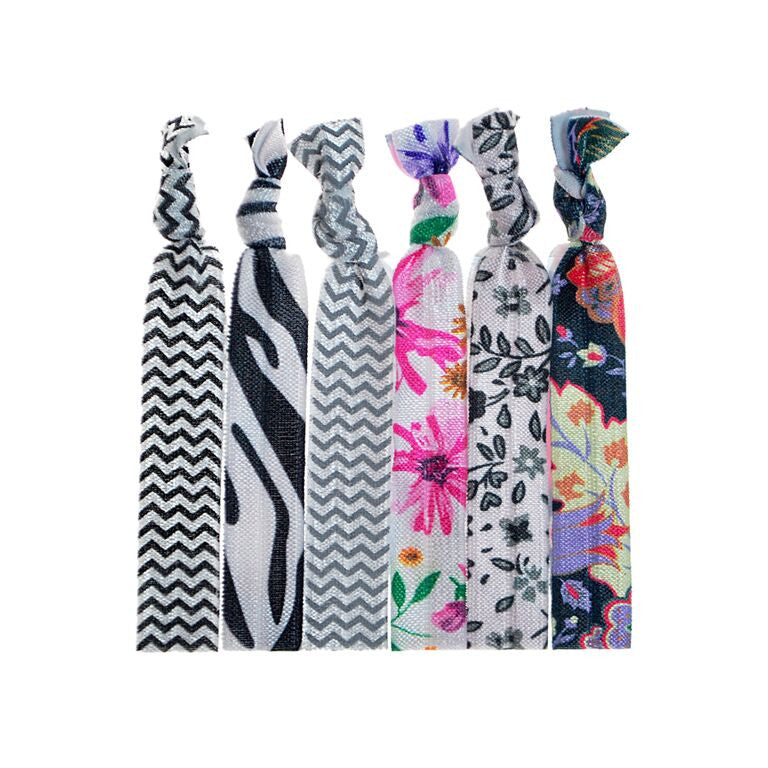 Assorted Basics Prints Knotted Hair Ties