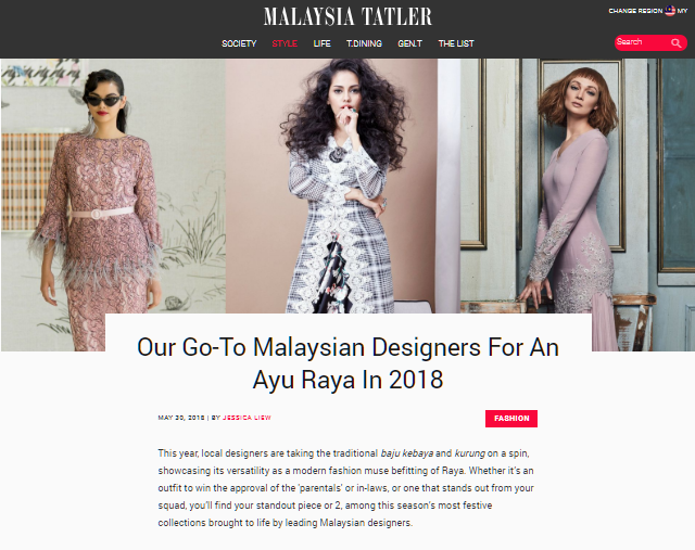 Malaysia Tatler May 2018 | Press