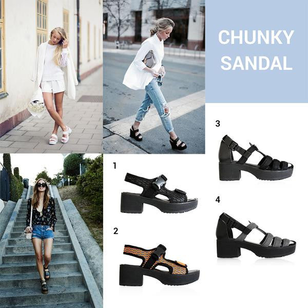 Fashion Trend: Chunky Heels and Rubberised Soles