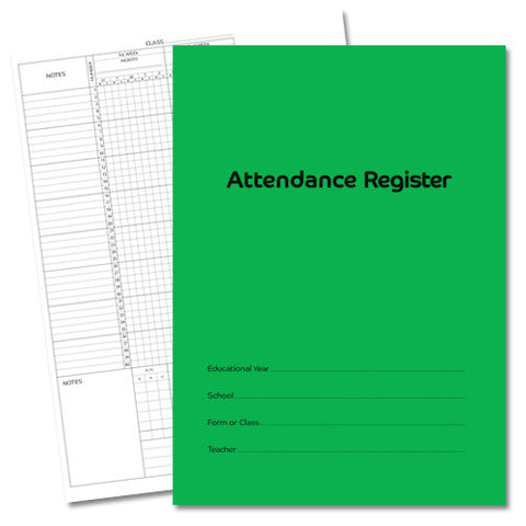 Attendance Registers - Pack of 5 ( £1.70 each )