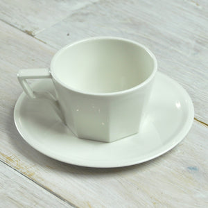 Kinto Oct Porcelain Cup & Saucer 220ml