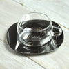 Silver Surfer Kinto Glass Tea Cup Stainless Steel Saucer