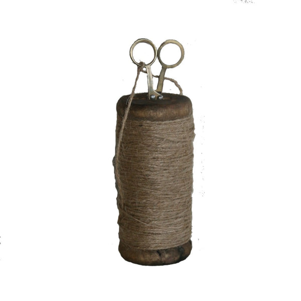 Twine - tall spool with scissors - adorned-interiors