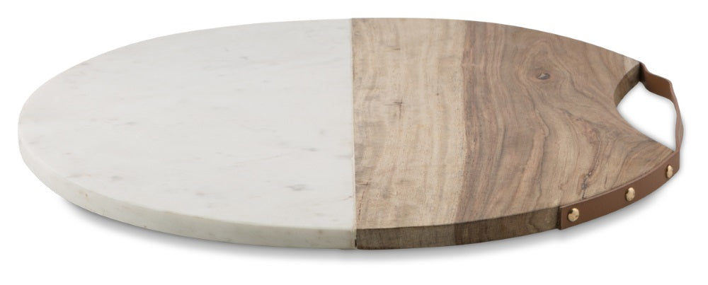 Marble and timber board - adorned-interiors