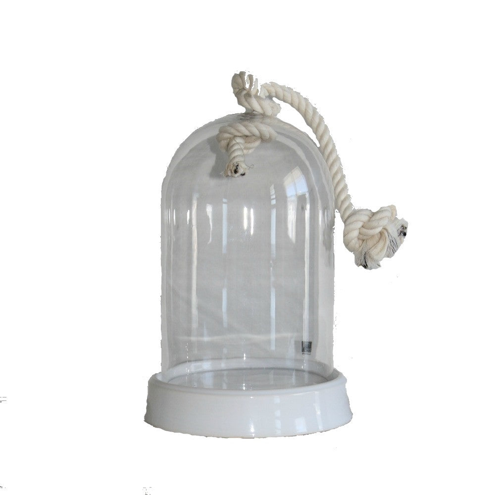 Glass cloche with rope - adorned-interiors