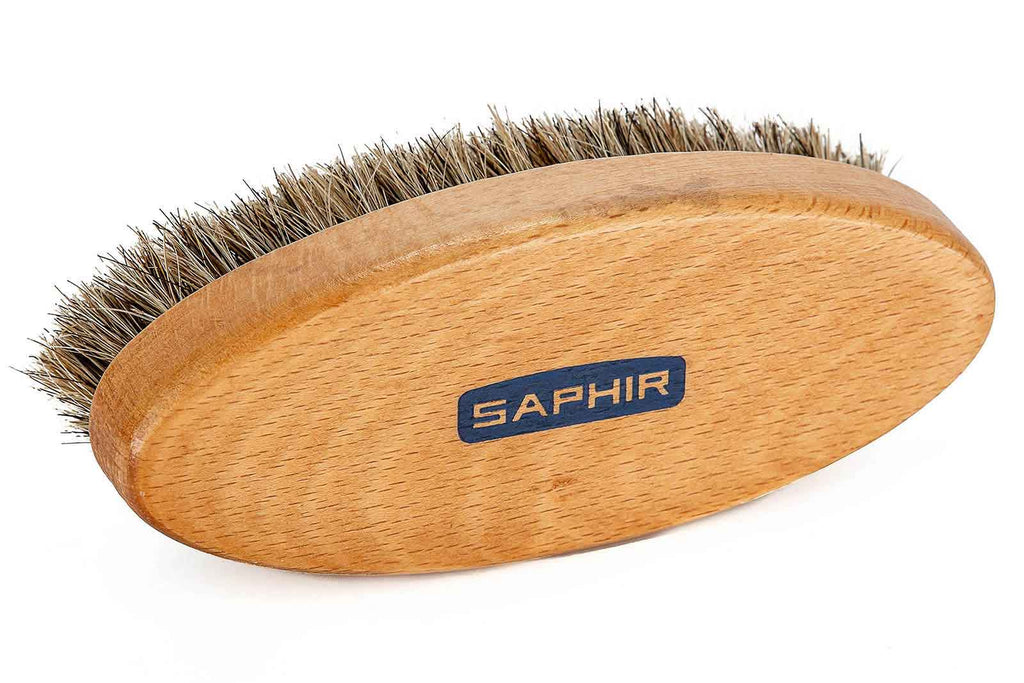 Natural Horsehair Brush - Oval - Saphir Beauté Du Cuir - Bootblack