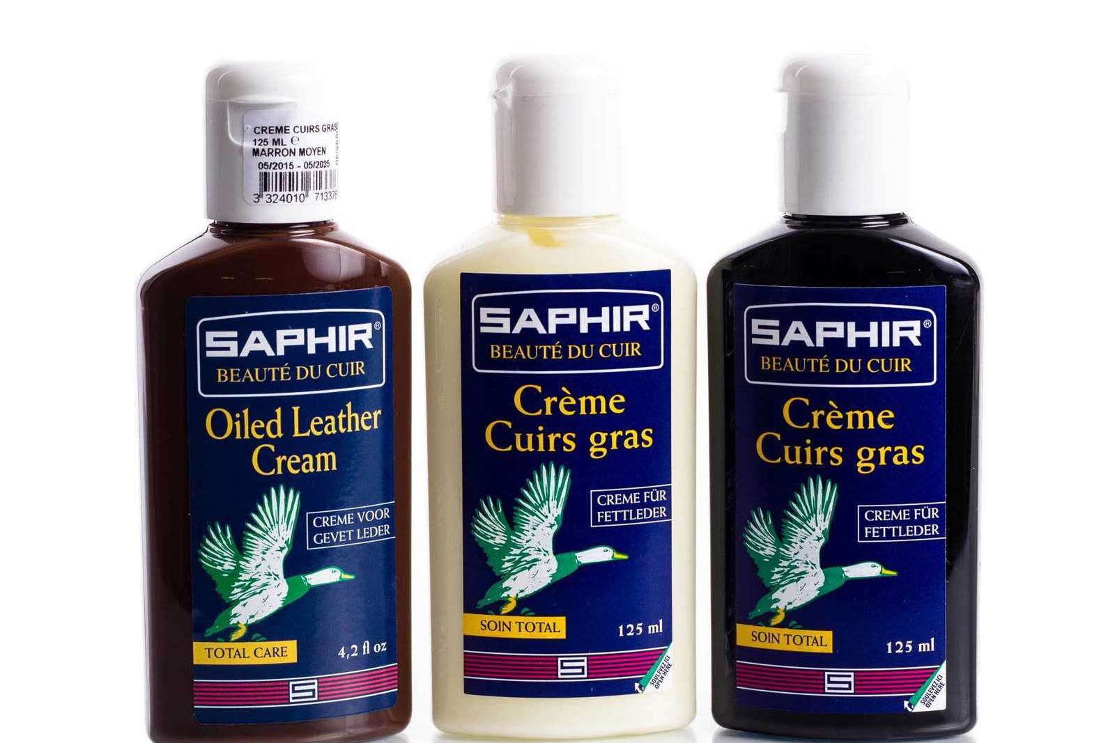 Oily Leather Cream 125ml - Saphir Beauté Du Cuir - Bootblack