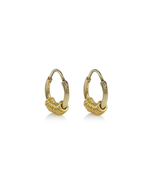 Anna + Nina - Multi Ring Earring Goldplated