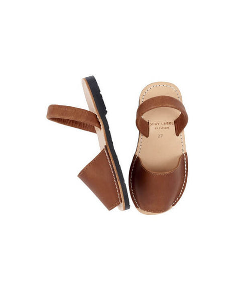 Gray Label - Brown Leather Sandals