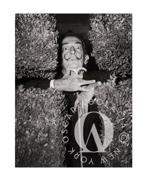 Oscar Abolafia - Salvador Dali at the St. Regis Hotel New York City ca. 1967