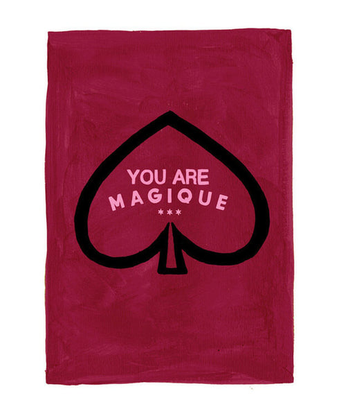 Hotel Magique - Spades Greeting Card