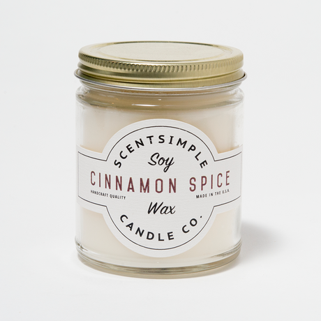 Cinnamon Spice Scented Soy Wax Candle