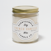 French Vanilla Scented Soy Wax Candle