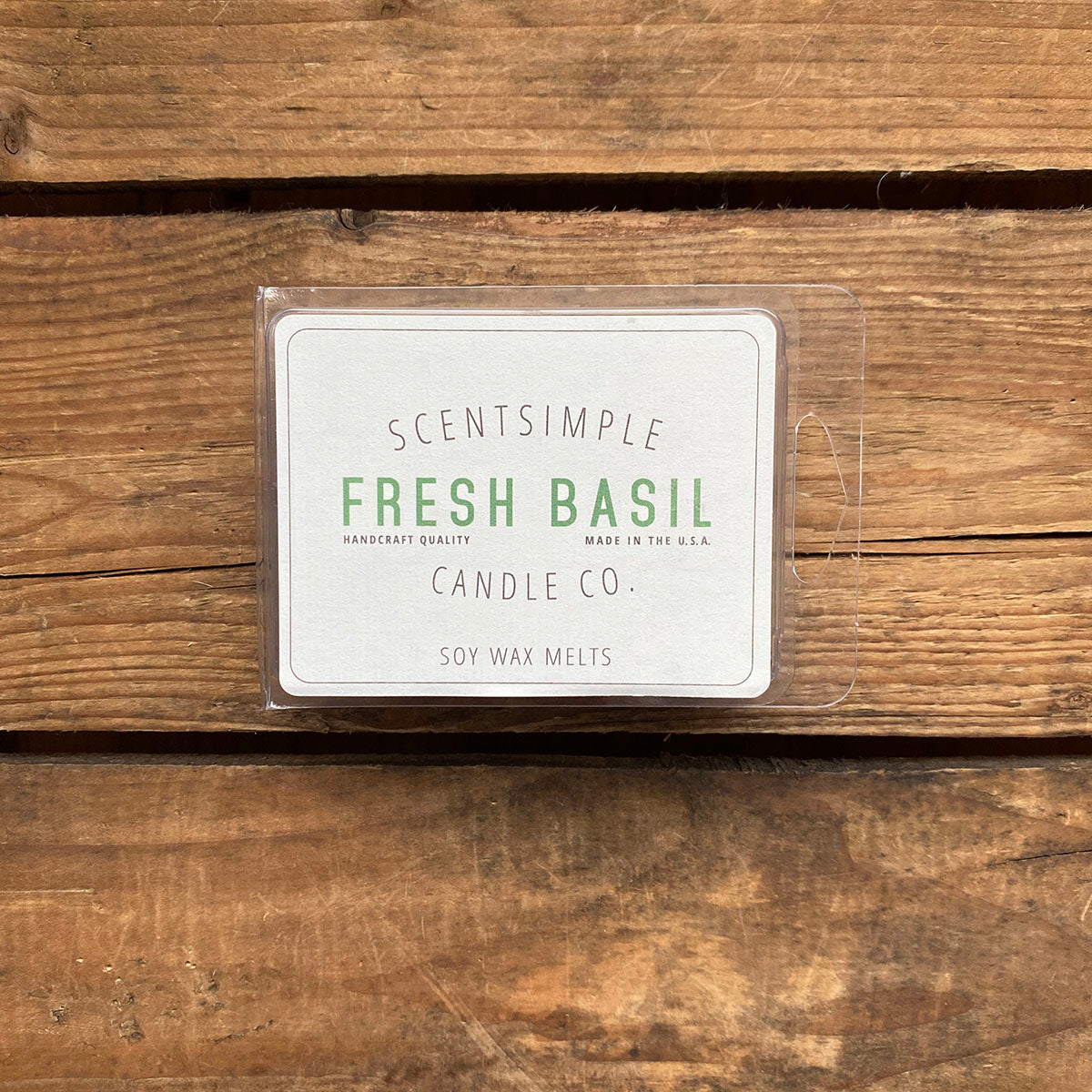 Fresh Basil Scented Soy Wax Melts