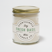 Fresh Basil Scented Soy Wax Candle
