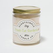 Fresh Cut Gardenia Scented Soy Wax Candle