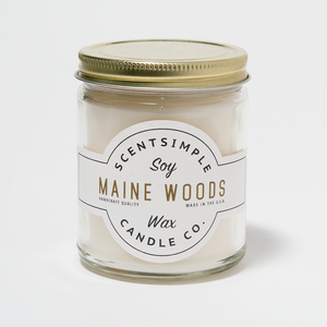 Maine Woods Scented Soy Wax Candle