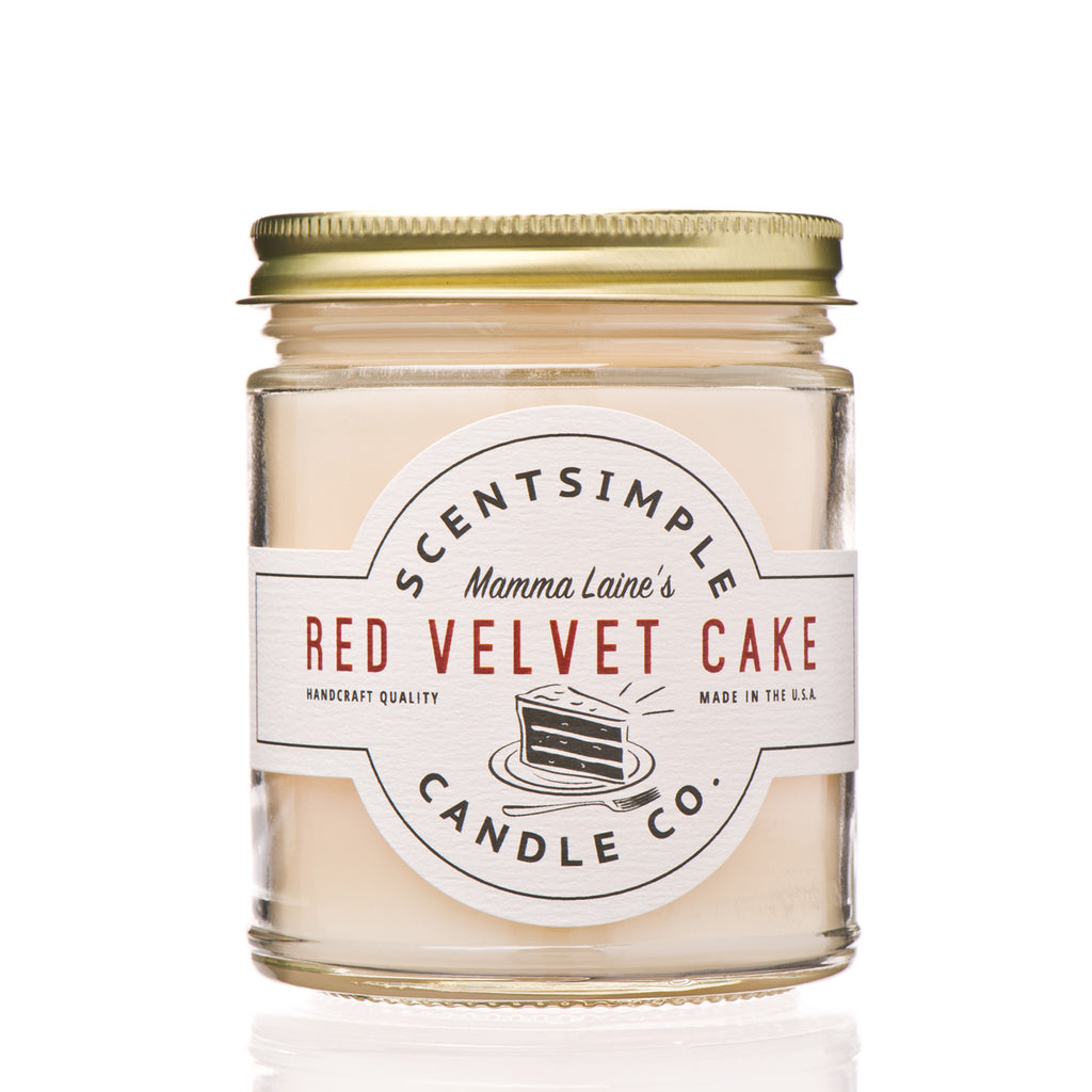 Mama Laine's Red Velvet Cake Soy Wax Candle ~ 7 oz.
