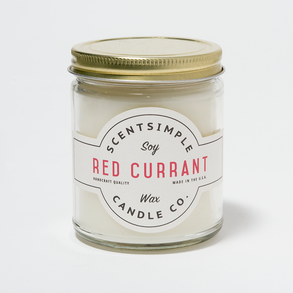 Red Currant Scented Soy Wax Candle